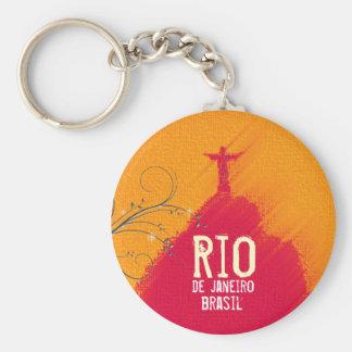 Red Corcovado Rio-Brasil Keychain