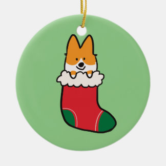 Red Corgi Stocking Ornament | CorgiThings