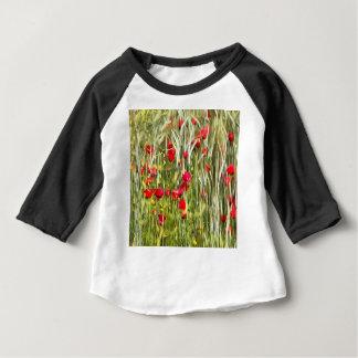 Red Corn Poppies Baby T-Shirt