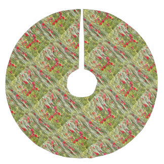 Red Corn Poppies Brushed Polyester Tree Skirt