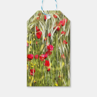 Red Corn Poppies Gift Tags