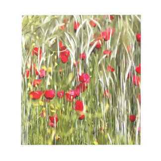 Red Corn Poppies Notepad