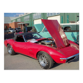 Red Corvette, 1 Postcard