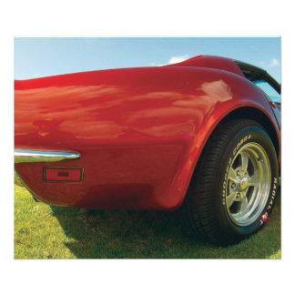 Red Corvette gopro close up cowboy reflection Photo Print