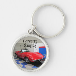 Red Corvette Keychain