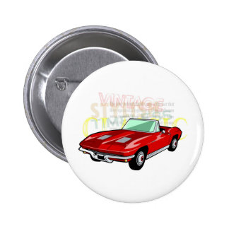 Red Corvette Stingray or Sting Ray sports car Pins