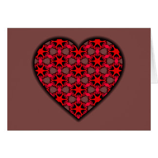 Red Cosmic Burst Heart Card