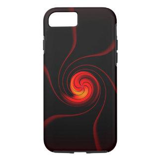 REd cosmic swirls on black iPhone case
