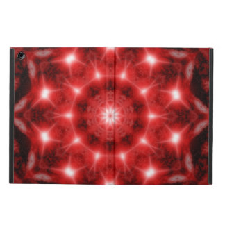 Red Cosmos Mandala Case For iPad Air