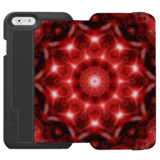 Red Cosmos Mandala Incipio Watson™ iPhone 6 Wallet Case