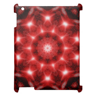 Red Cosmos Mandala iPad Cases
