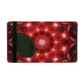 Red Cosmos Mandala iPad Cover