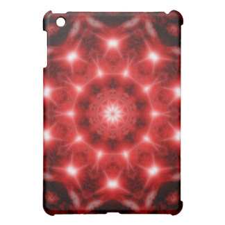 Red Cosmos Mandala iPad Mini Cover