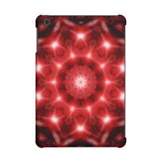 Red Cosmos Mandala iPad Mini Retina Covers
