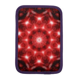 Red Cosmos Mandala iPad Mini Sleeve
