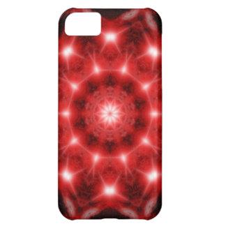 Red Cosmos Mandala iPhone 5C Cases
