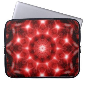 Red Cosmos Mandala Laptop Sleeve