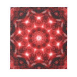 Red Cosmos Mandala Notepad