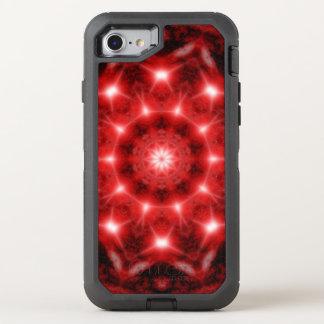 Red Cosmos Mandala OtterBox Defender iPhone 8/7 Case