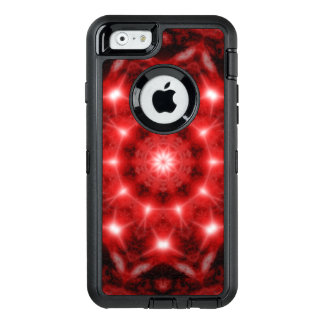 Red Cosmos Mandala OtterBox Defender iPhone Case