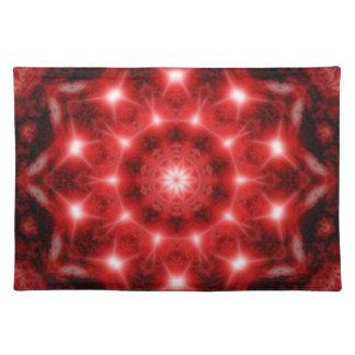 Red Cosmos Mandala Placemat