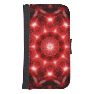 Red Cosmos Mandala Samsung S4 Wallet Case