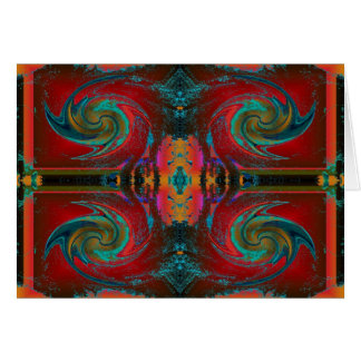 Red Cosmos Swirl Card