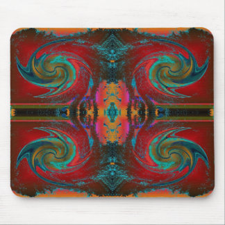 Red Cosmos Swirl Mouse Pad