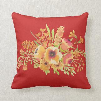 """Red Cotton Throw Pillow, Throw Pillow 16"""" x 16"""""""