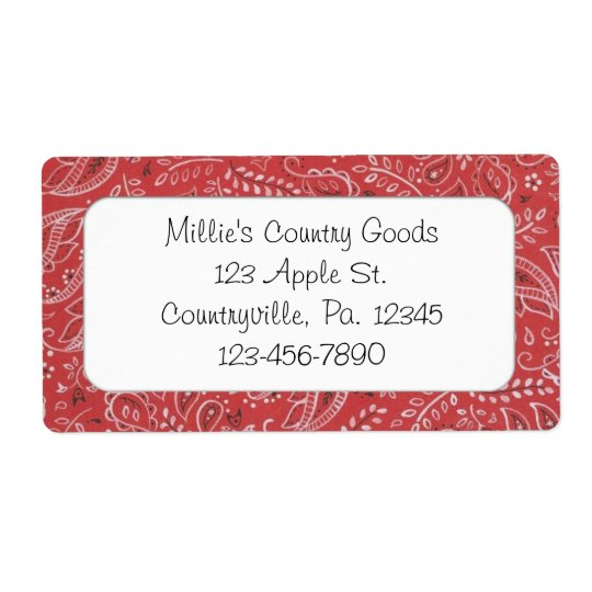 Red Country Business Label