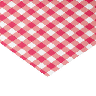 Red Country Gingham Check Pattern 2 Tissue Paper