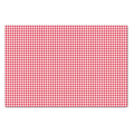 Red Country Gingham Check Pattern Tissue Paper