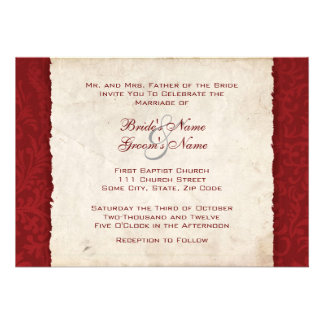 Red Country Wedding Invitation