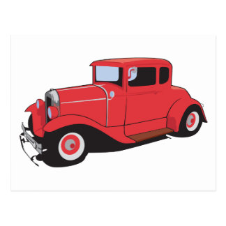 Red Coupe Postcard