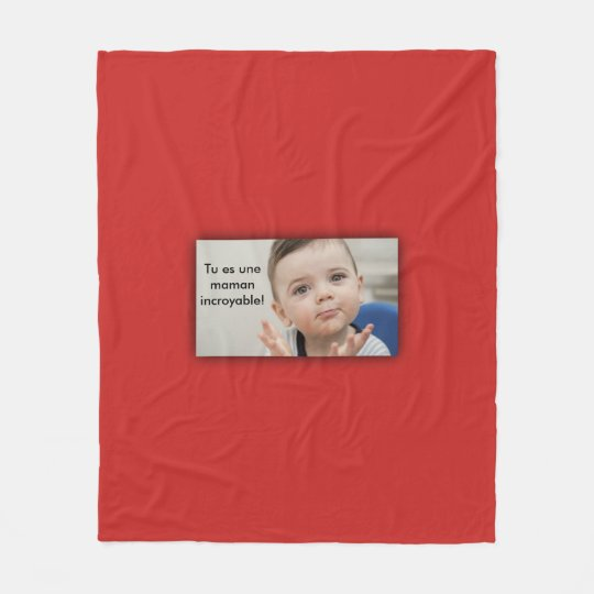 Red cover personnalisable fleece blanket