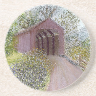 Red Covered Bridge Coaster
