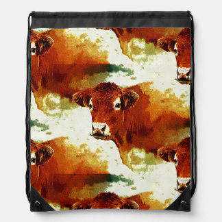 Red Cow Painting Backpack