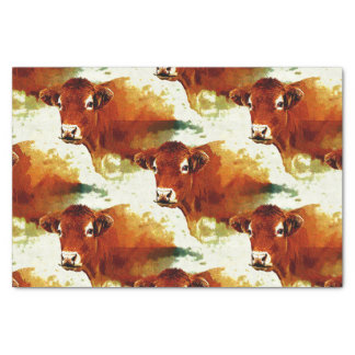 Red Cow Painting Tissue Paper