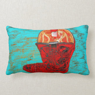 Red Cowboy Boot Lumbar Pillow