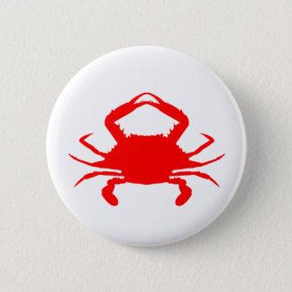 Red Crab 2 Inch Round Button