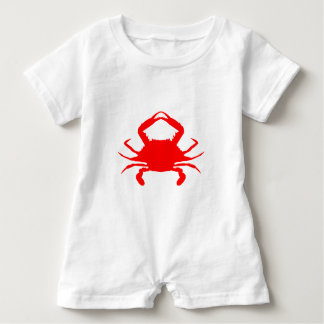 Red Crab Baby Romper