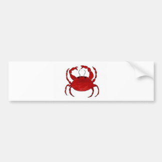 Red Crab Bumper Sticker