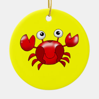 Red crab ceramic ornament