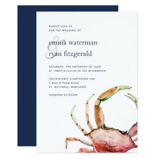 Red Crab | Nautical Wedding Invitation