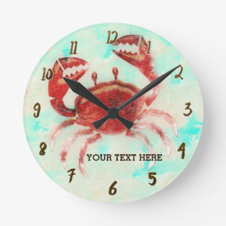 Red Crab Personalized Wall Clock