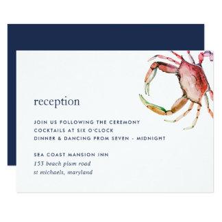 Red Crab Reception Enclosure Card