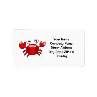 Red crab return address