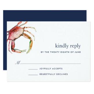 Red Crab RSVP Card