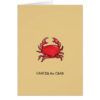 Red Crab sand Cancer Zodiac Birthday Card