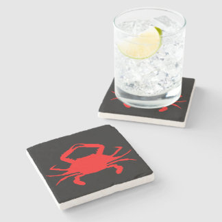 Red Crab Stone Coaster